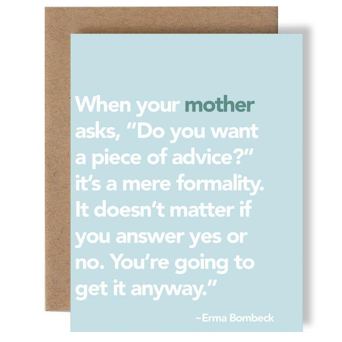 Erma Bombeck Card   Trada Marketplace