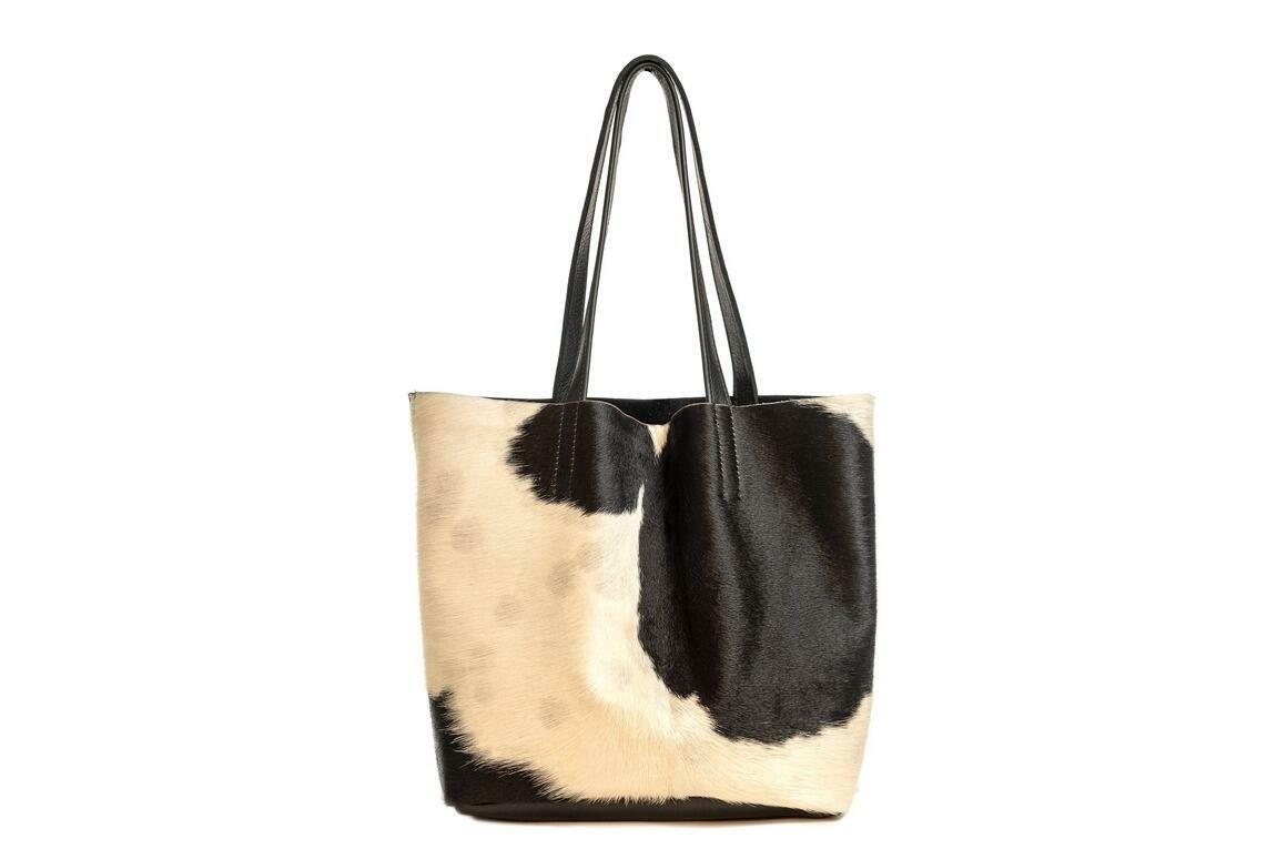 Dottie Hair on Leather tote | Trada Marketplace