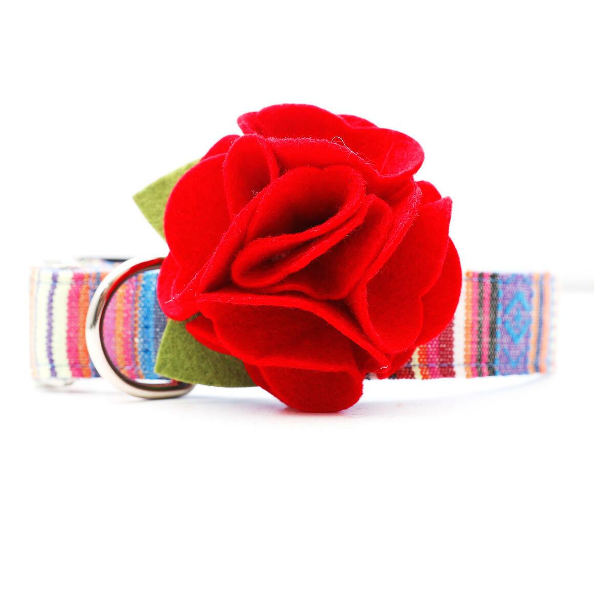 Dog Collar Hydrangea Flower - Red   Trada Marketplace