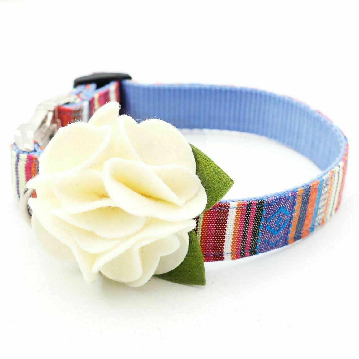 Dog Collar Hydrangea Flower - Angel Wings (cream)   Trada Marketplace