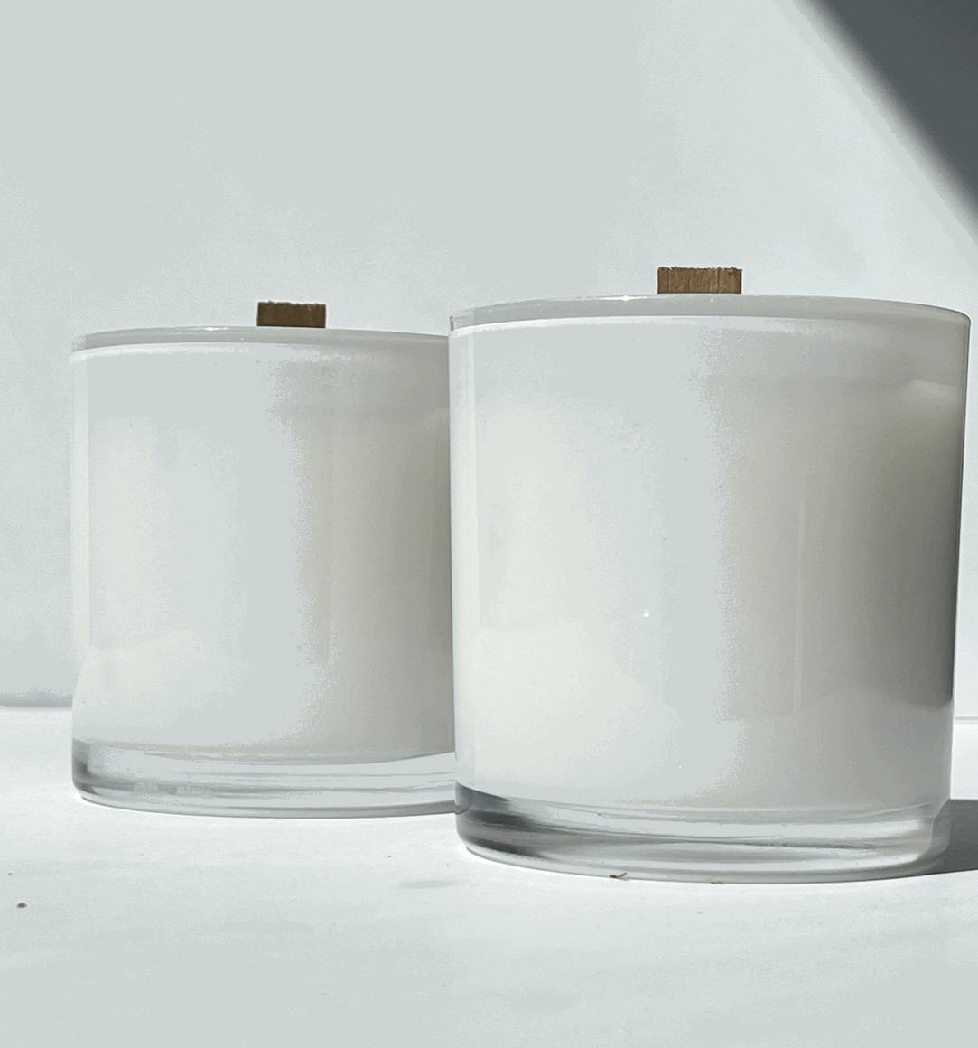 Coconut Soy Candles - Sandalwood Amber Glass | Trada Marketplace