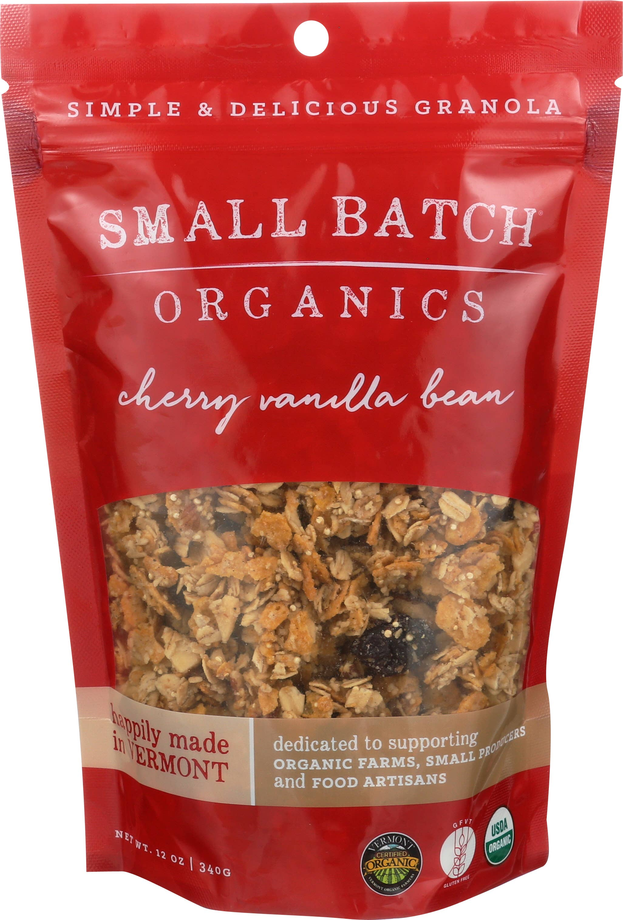 12oz Cherry Vanilla Bean Granola | Trada Marketplace