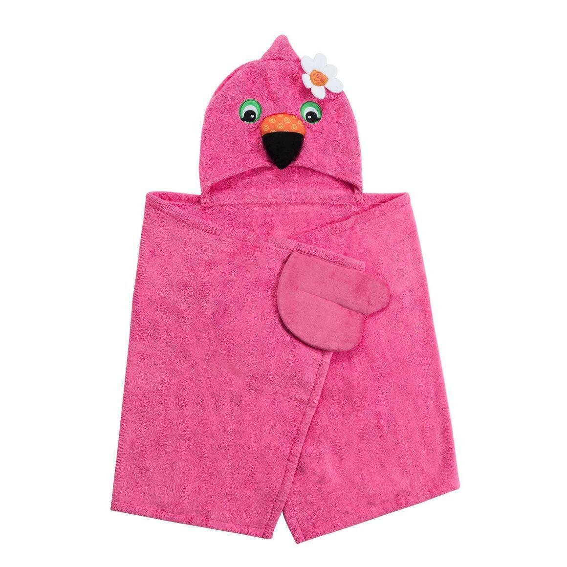 Franny the Flamingo Toddler Towel | Trada Marketplace