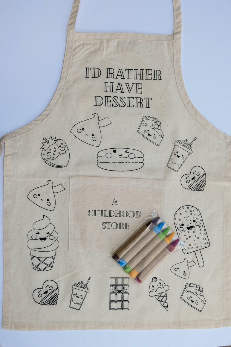 Chocolate: CYO Artist Apron Kit with Eco Friendly Crayons | Trada Marketplace