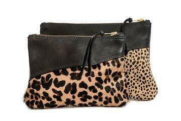 Jackie Leather Cross Body Large - Leopard Lined | Trada Marketplace