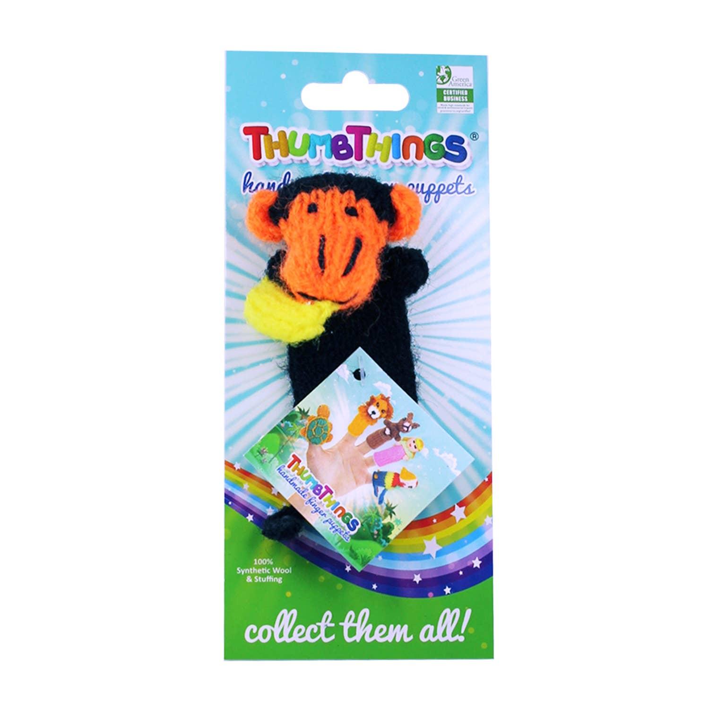 Monkey Finger Puppet (black & orange)   Trada Marketplace