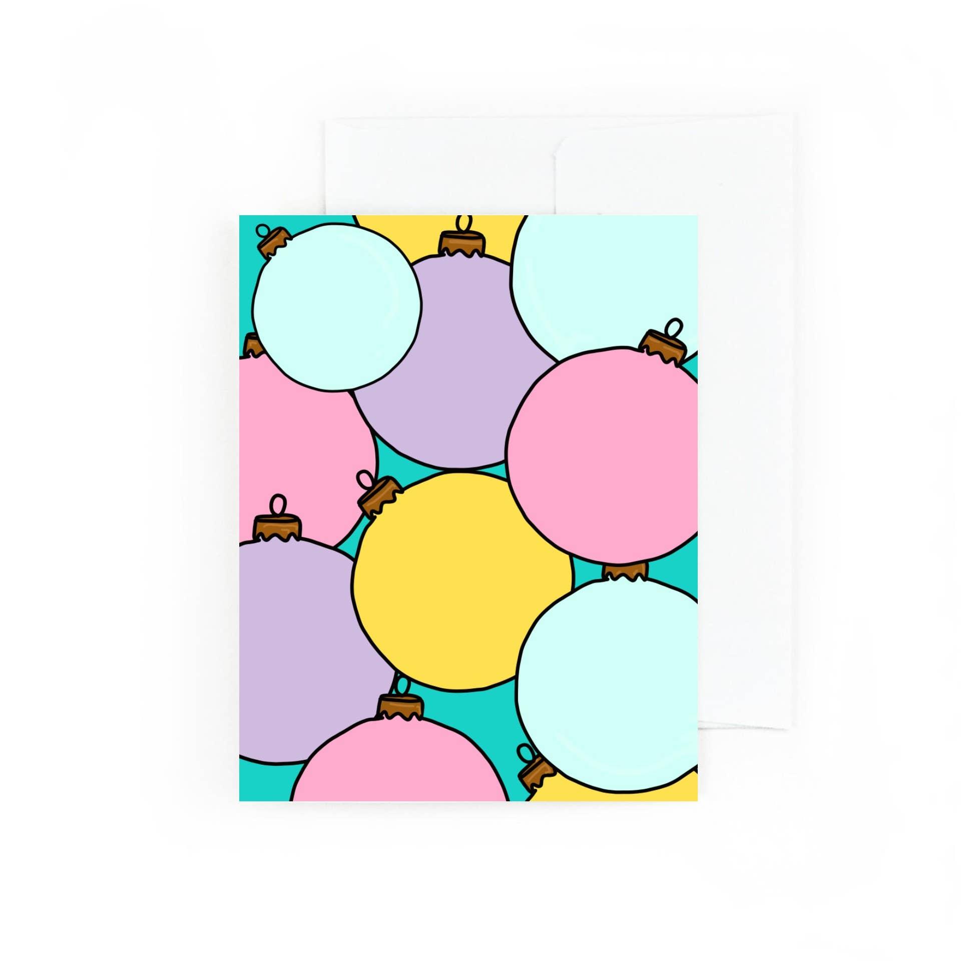 Colorful Christmas Ornament Greeting Card | Trada Marketplace