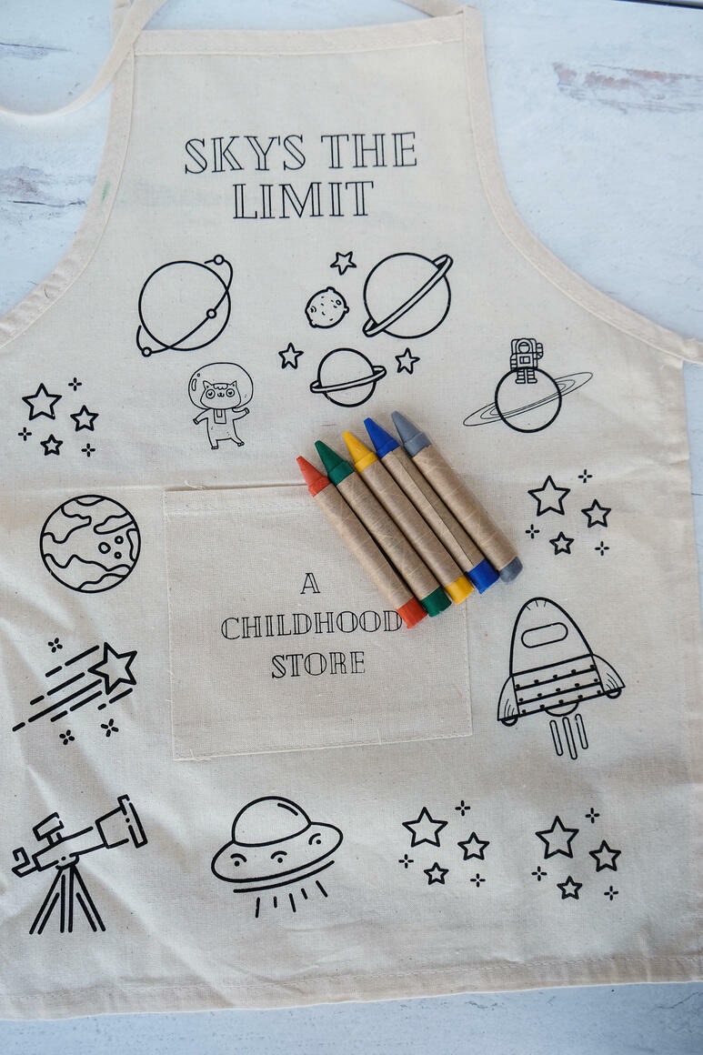 Space: CYO Artist Apron Kit with Eco Friendly Crayons | Trada Marketplace