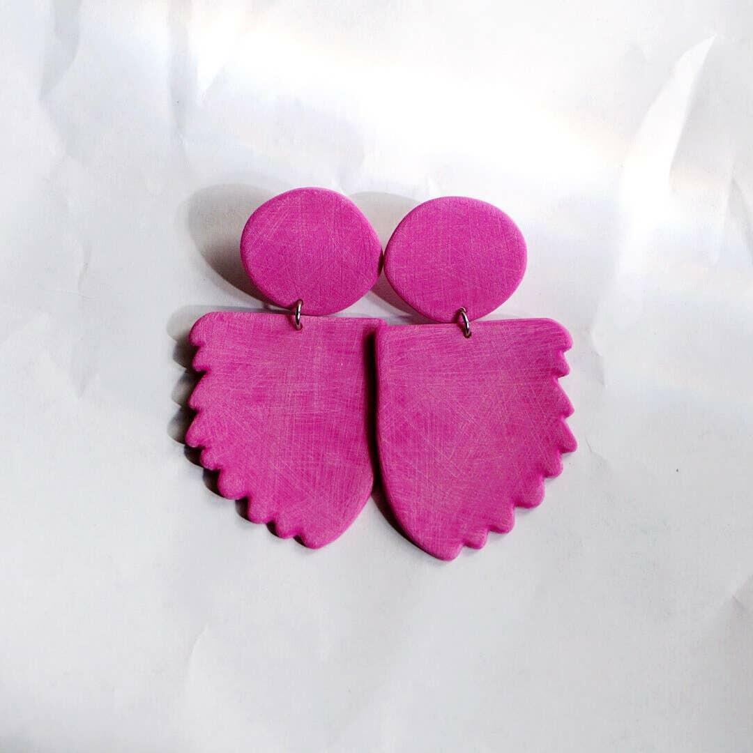 Afterglow Statement Earrings - Magenta | Trada Marketplace
