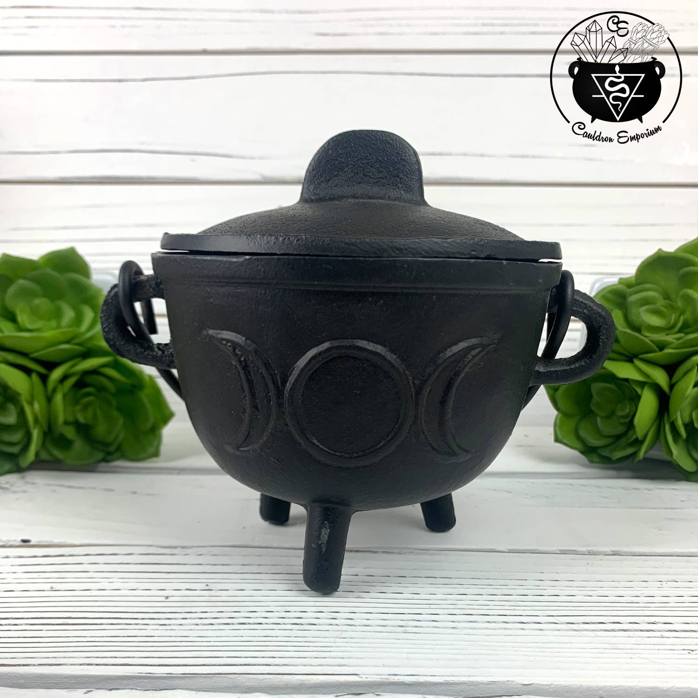 "Triple Moon Cauldron - Incense Burner 4.5""D | Trada Marketplace"