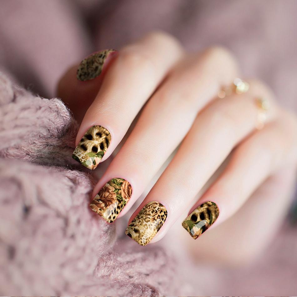 Cheetah Rose Nail Wraps | Trada Marketplace