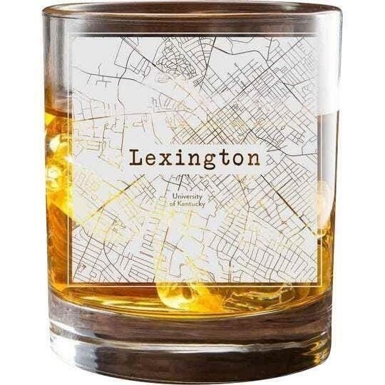 Lexington KY College Town Glasses (Set of 2)   Trada Marketplace