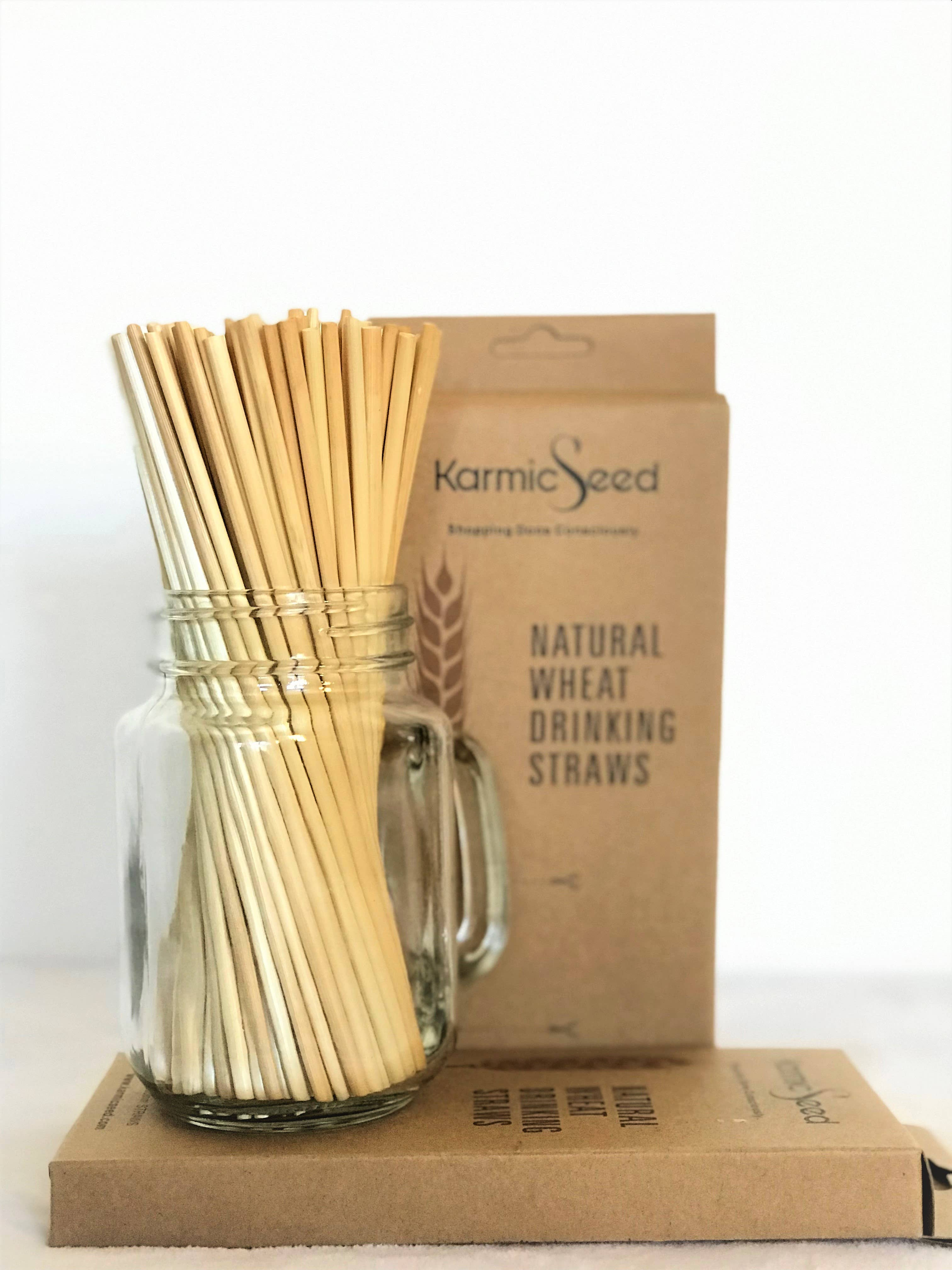 "Wheat Drinking Straws 8"" inch - Pack of 100 straws   Trada Marketplace"