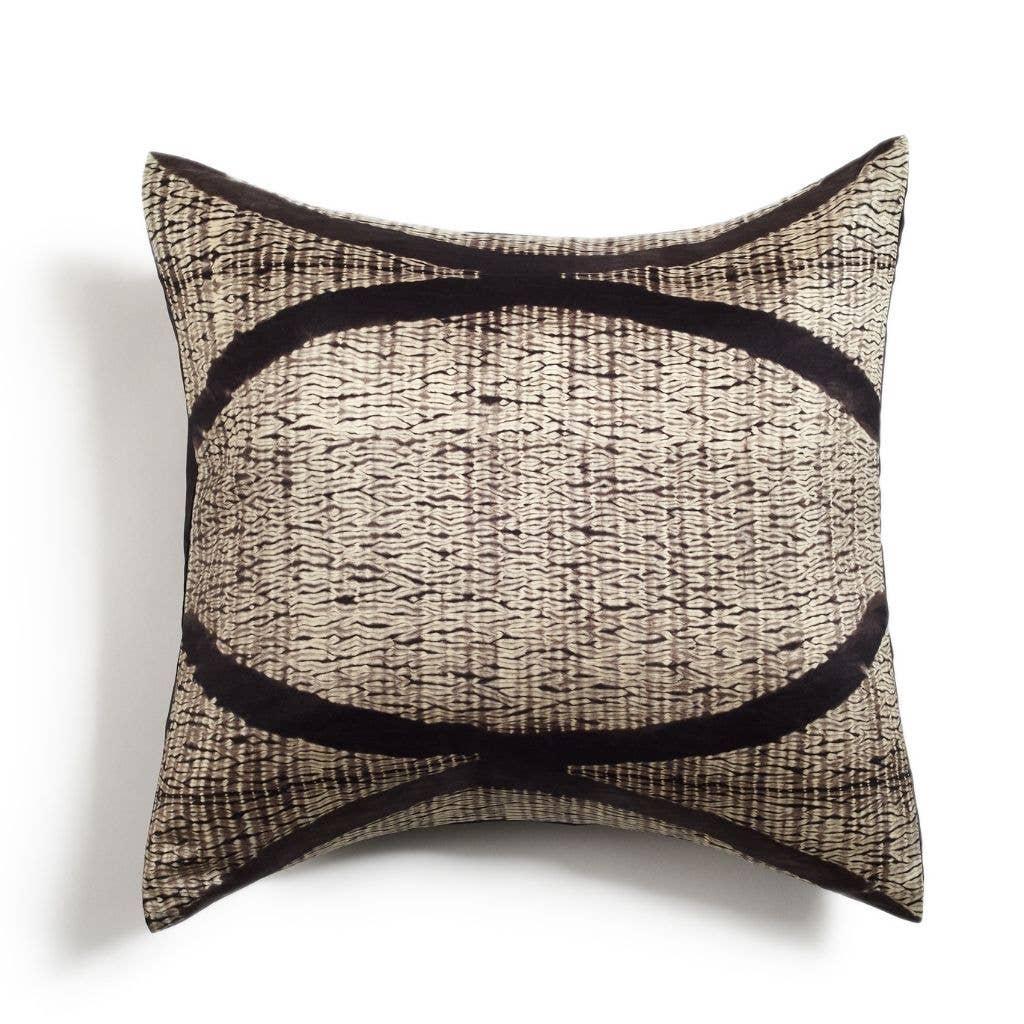 Arc Black Silk Pillow | Trada Marketplace