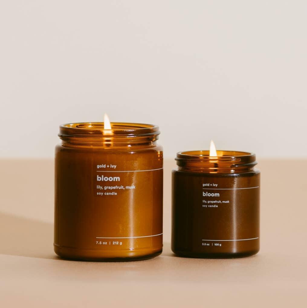 bloom 3.5 oz. soy candle - mini | Trada Marketplace