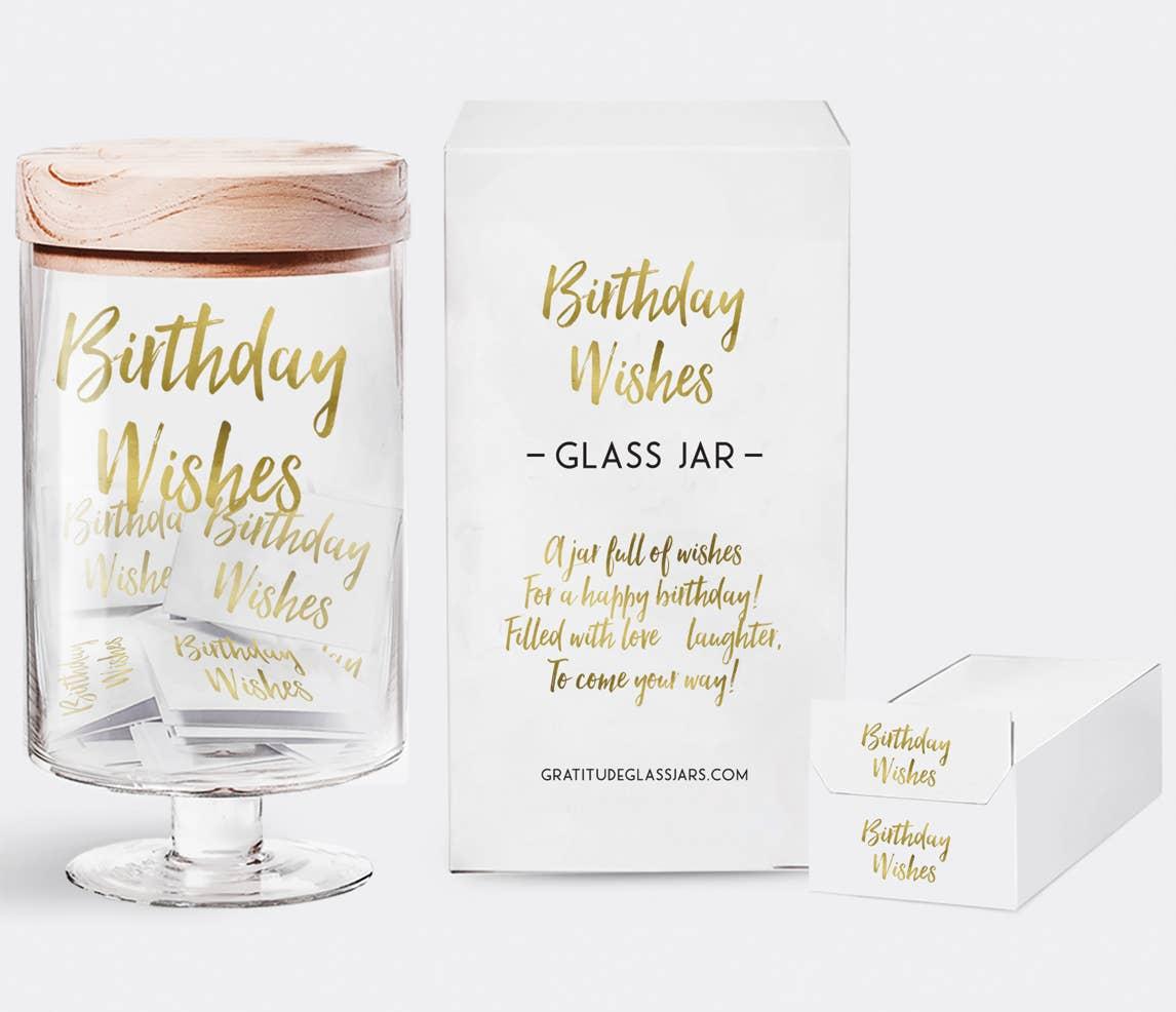 Birthday Wishes Glass Jar | Trada Marketplace