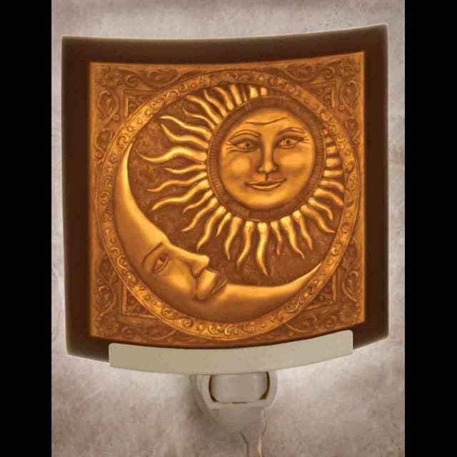 Sun and Moon Curved Night Light   Trada Marketplace