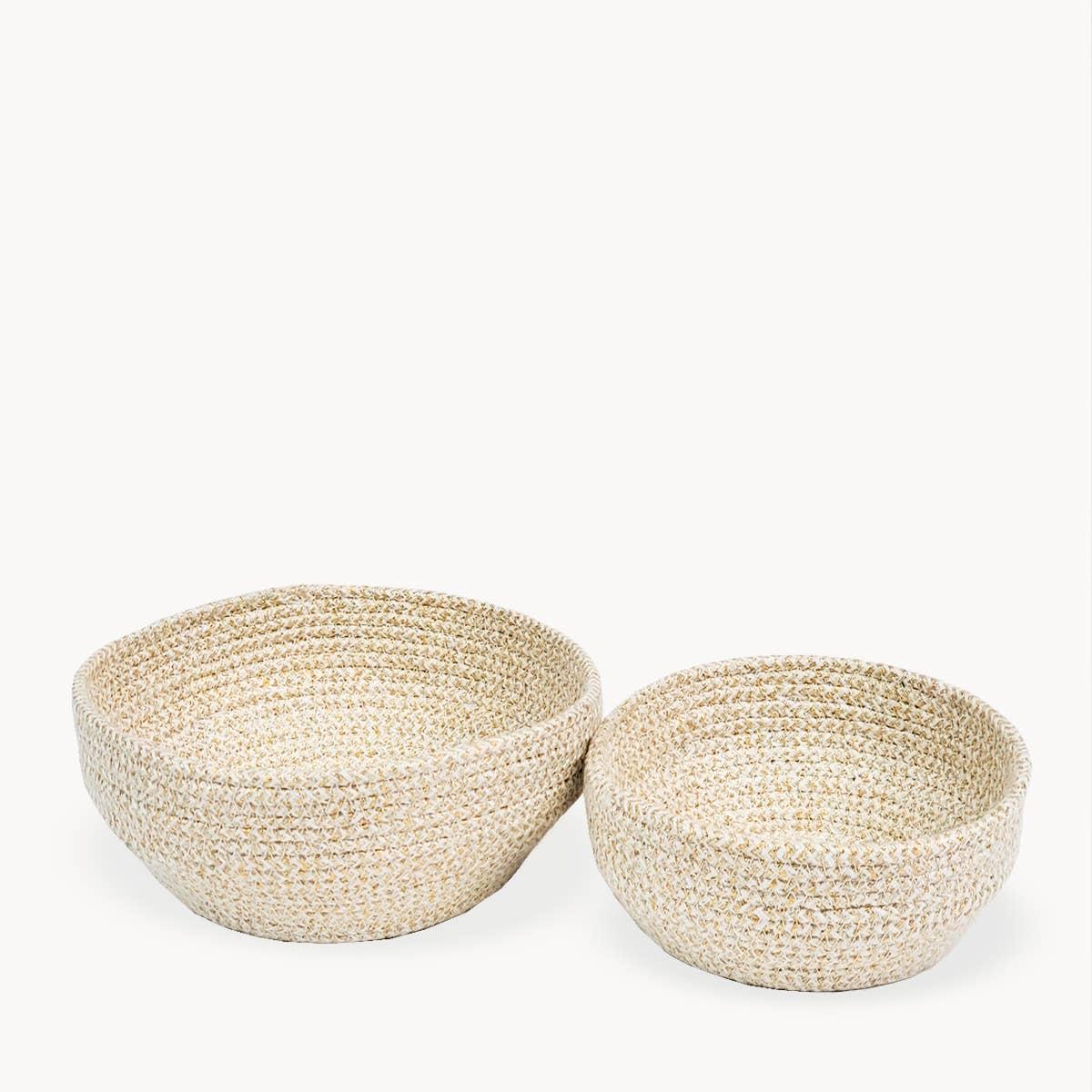Glitter Bowl - White (Set of 2) | Trada Marketplace