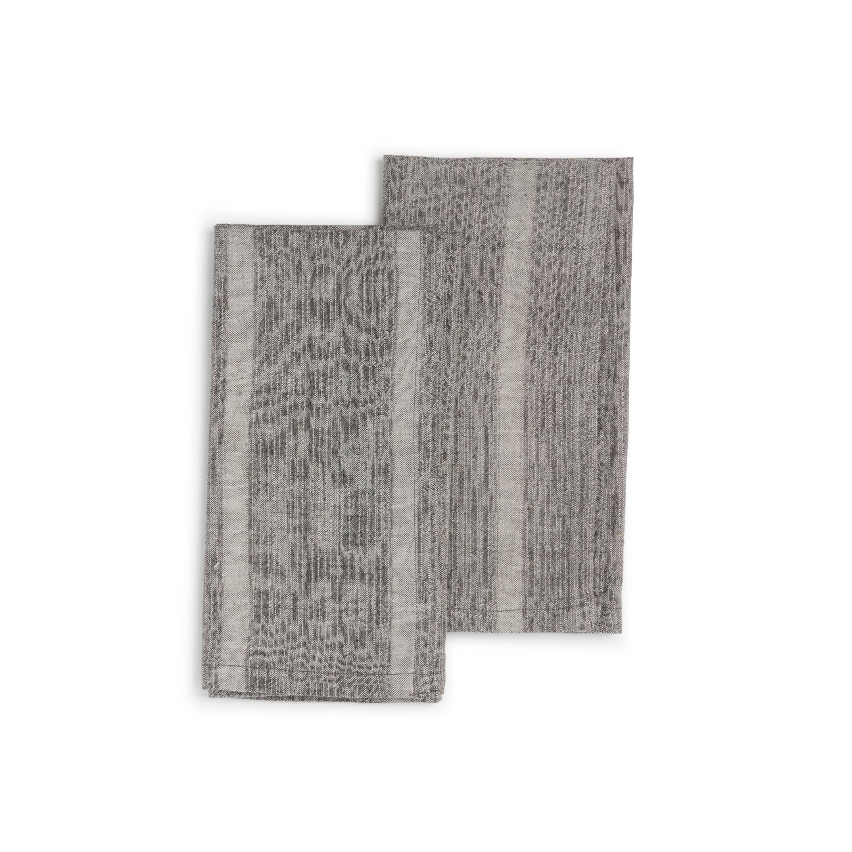 SLATE GREY Napkin (set of 2), Organic Cotton w/ Natural Dyes | Trada Marketplace