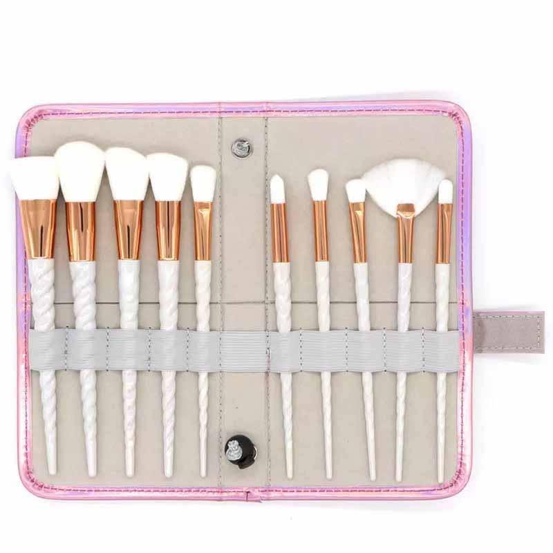 White Unicorn Makeup Brush Set   Trada Marketplace