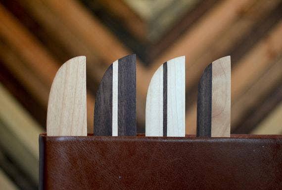 Hardwood Bookmarks (Set of 4) | Trada Marketplace