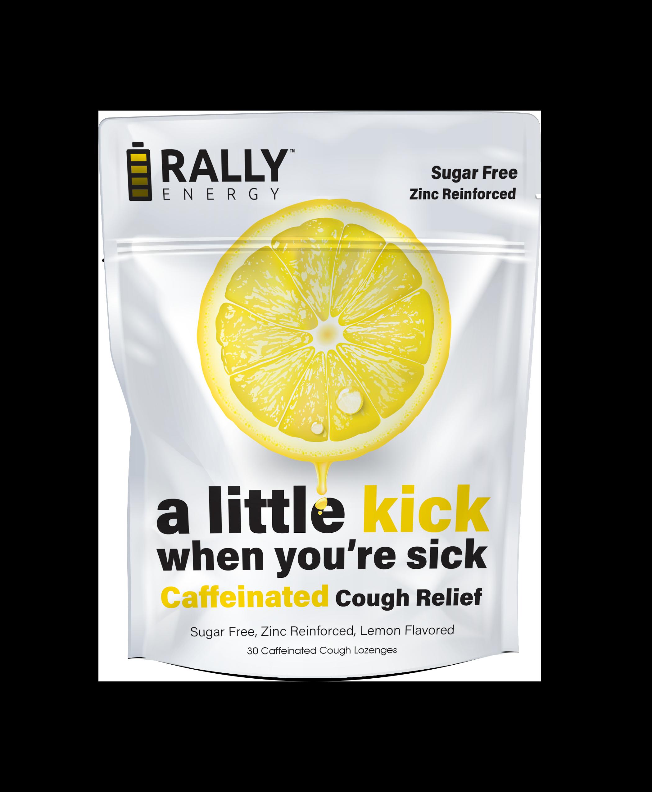 Rally Energy Cough Relief - Caffeinated Lemon Cough Lozenge   Trada Marketplace