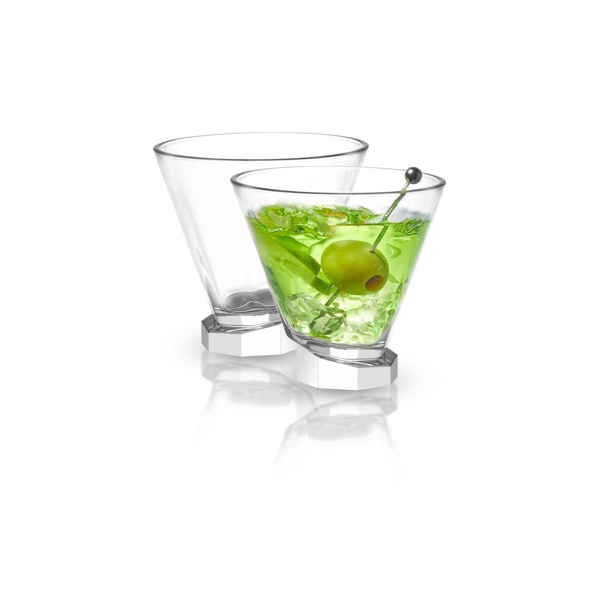 Aqua Vitae Octagon Crystal Martini Glass, 8.1 oz (Set of 2)  | Trada Marketplace