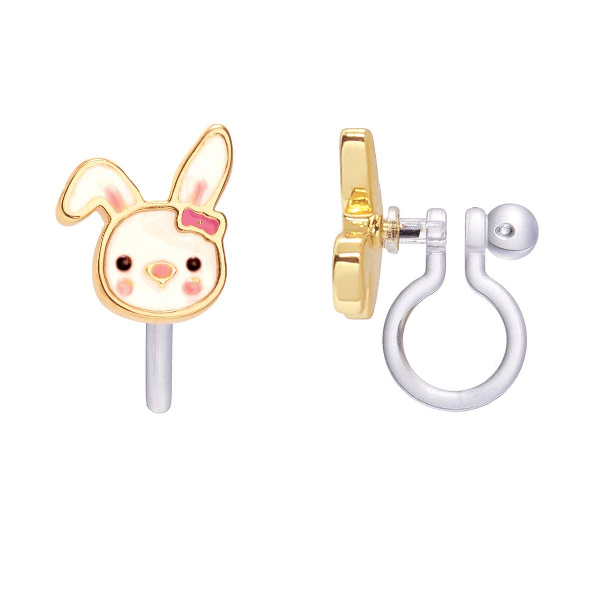 CLIP ON Cutie Earrings- Bouncy Bunny | Trada Marketplace