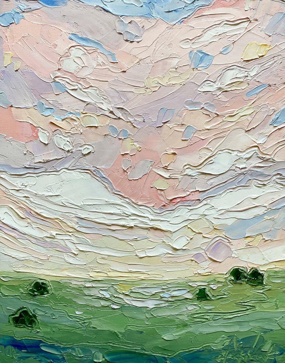 Pink Sunset 1 Vertical Canvas Print   Trada Marketplace