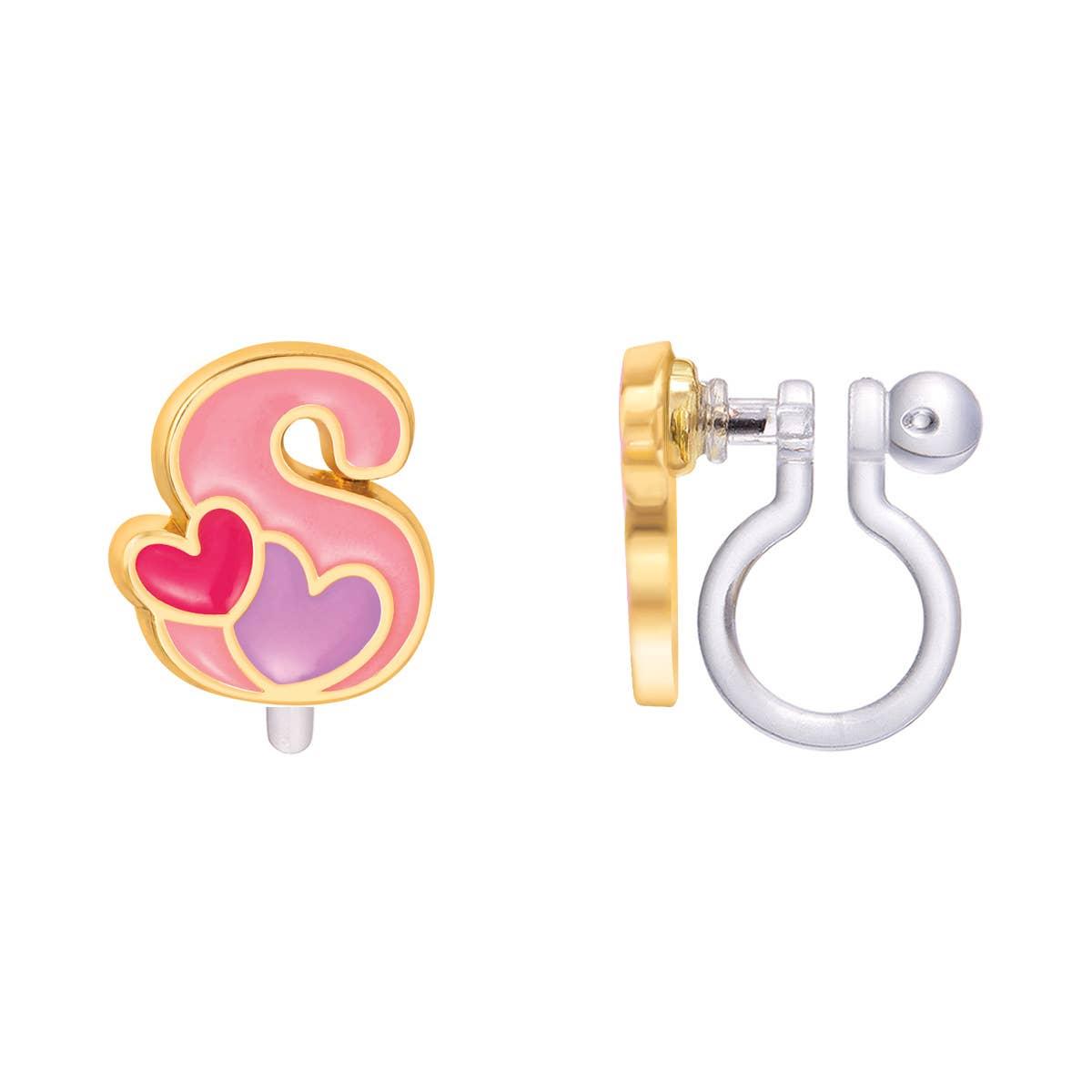 CLIP ON Cutie Initial Earrings- S | Trada Marketplace