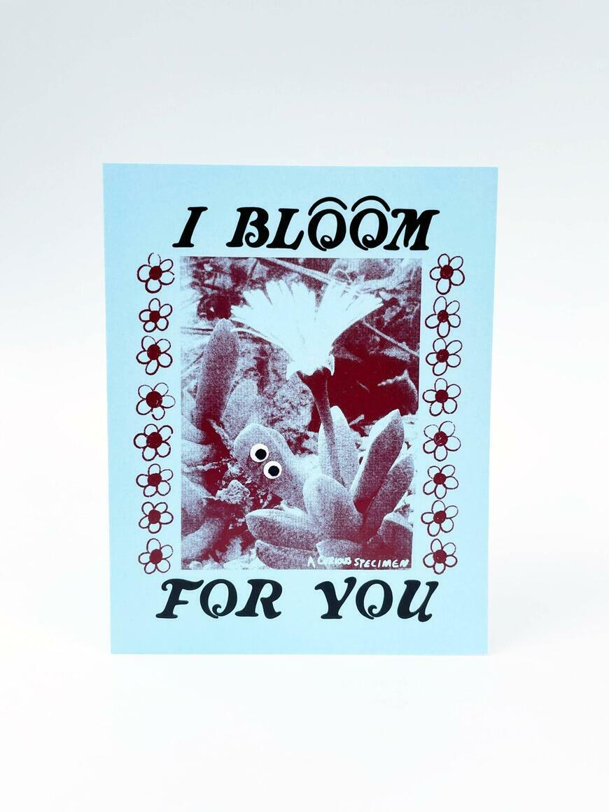 I Bloom For You   Greeting Card   Trada Marketplace