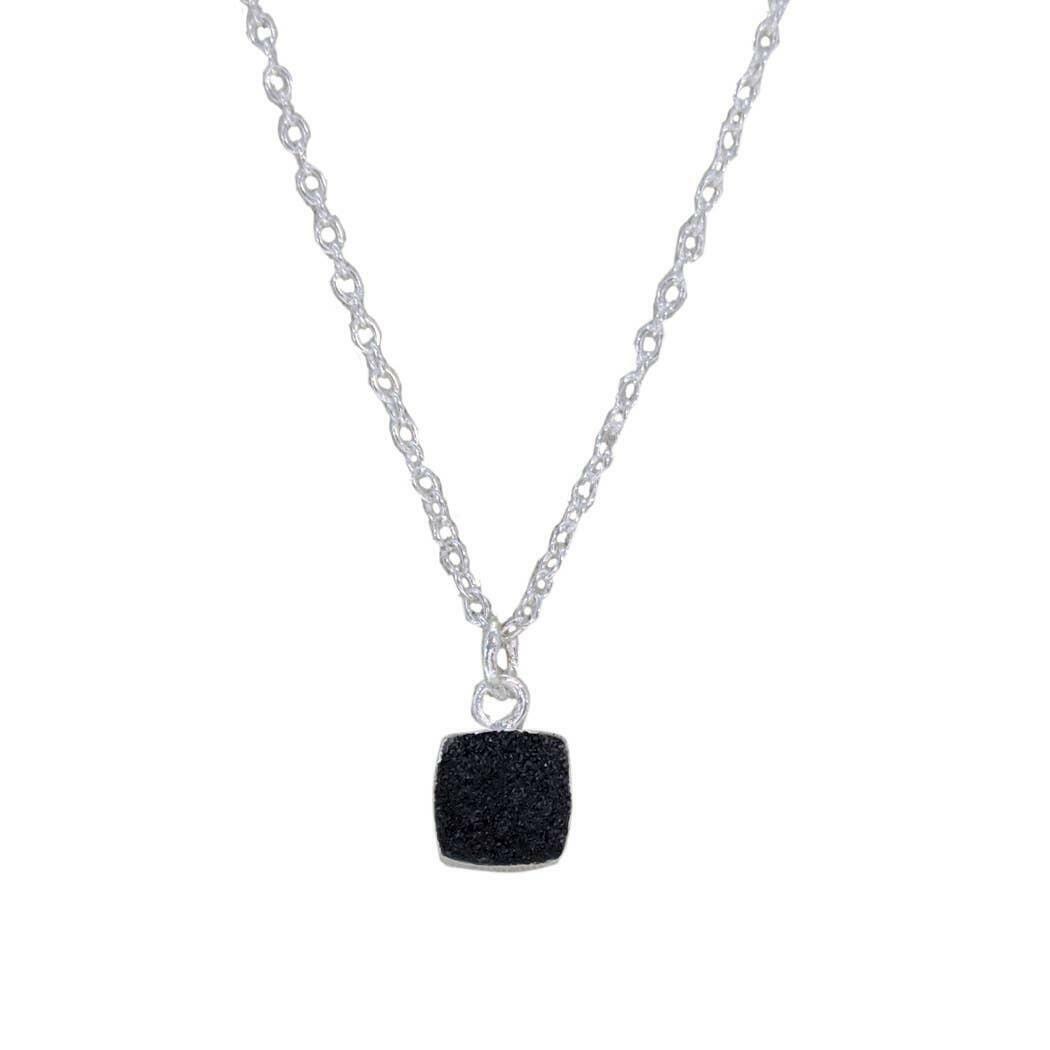 20% OFF Chloe Black Druzy Sterling Necklace   Trada Marketplace