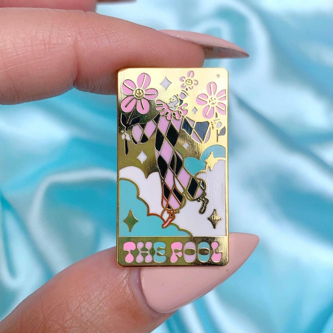 The fool tarot card Enamel Pin   Trada Marketplace