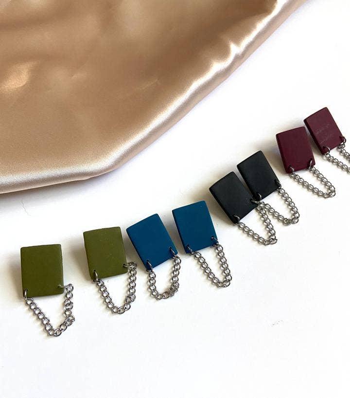 Rectangle Chain Stud | Trada Marketplace