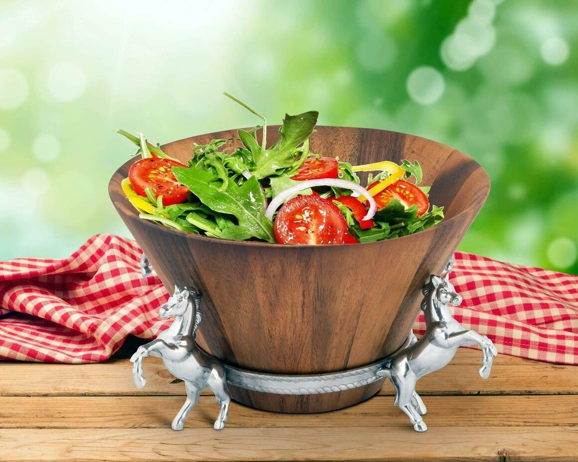 Horse Wood Tall Salad Bowl | Trada Marketplace