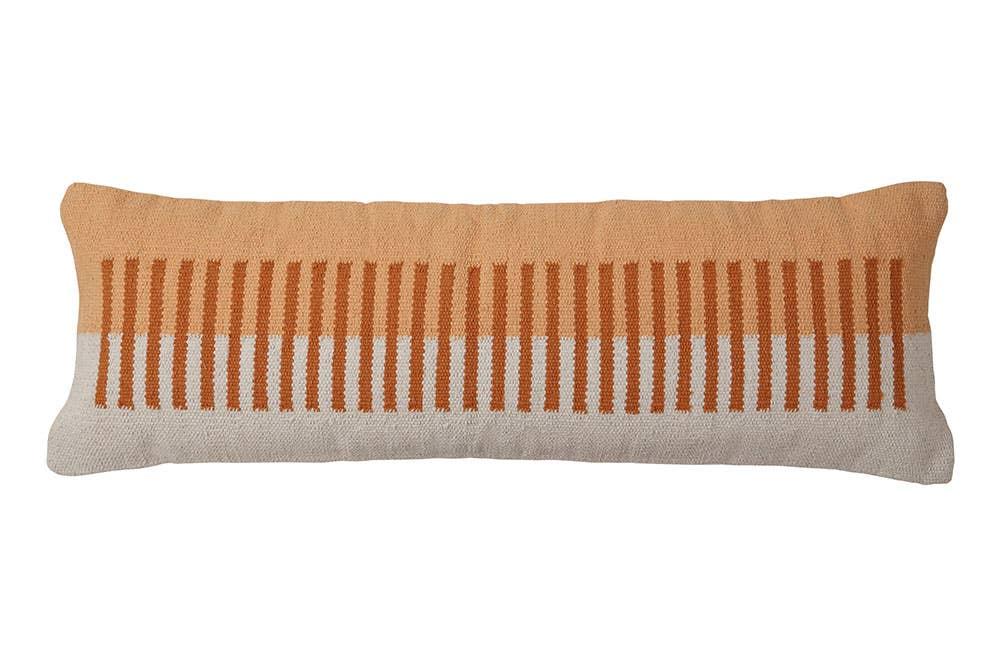 Terra Stripe Lumbar Pillow - 12x34 inch   Trada Marketplace