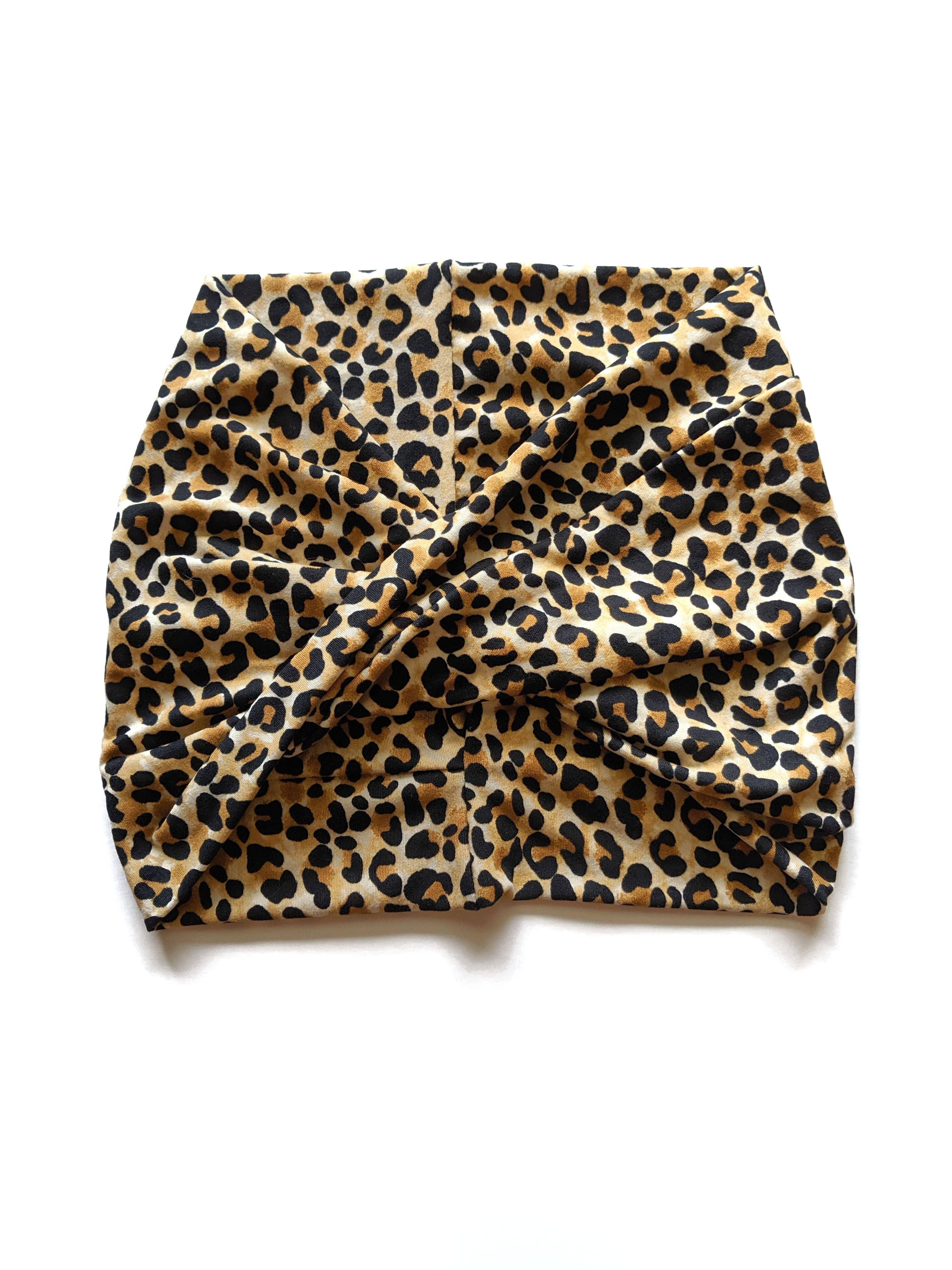 Leopard  - Wide Headband | Turban | Twist | Yoga | Trada Marketplace