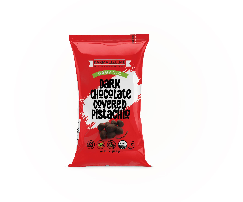 Organic Chocolate Pistachios - 1 oz  | Trada Marketplace