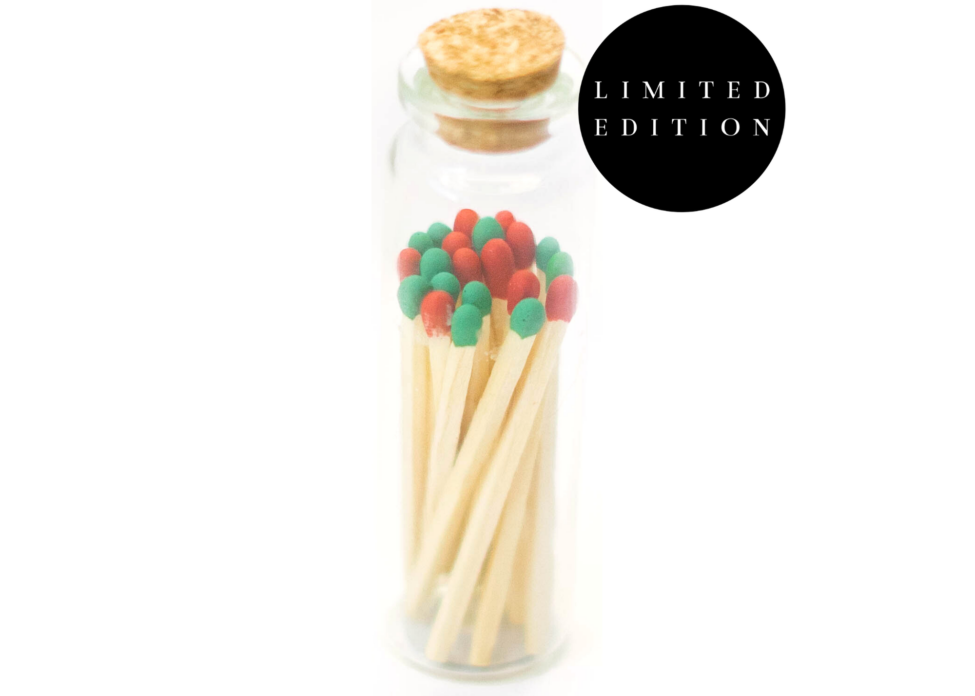 1.85in Christmas Colored Tips Decorative Matches In Jar   Trada Marketplace