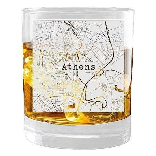 Athens College Town Glasses (Set of 2)   Trada Marketplace