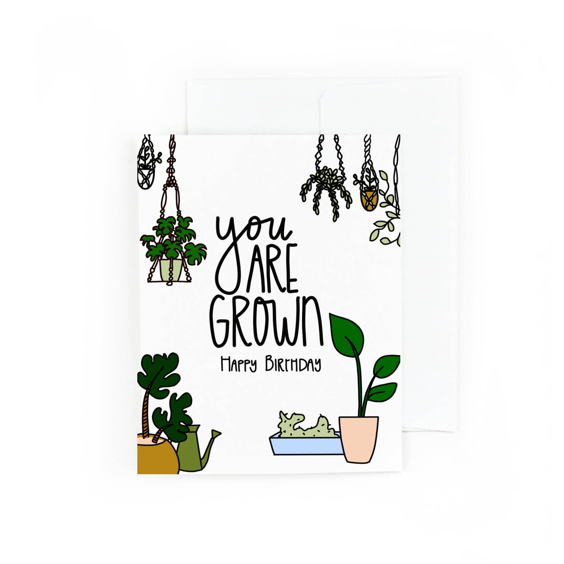 You Are Grown Plant Birthday Card | Trada Marketplace