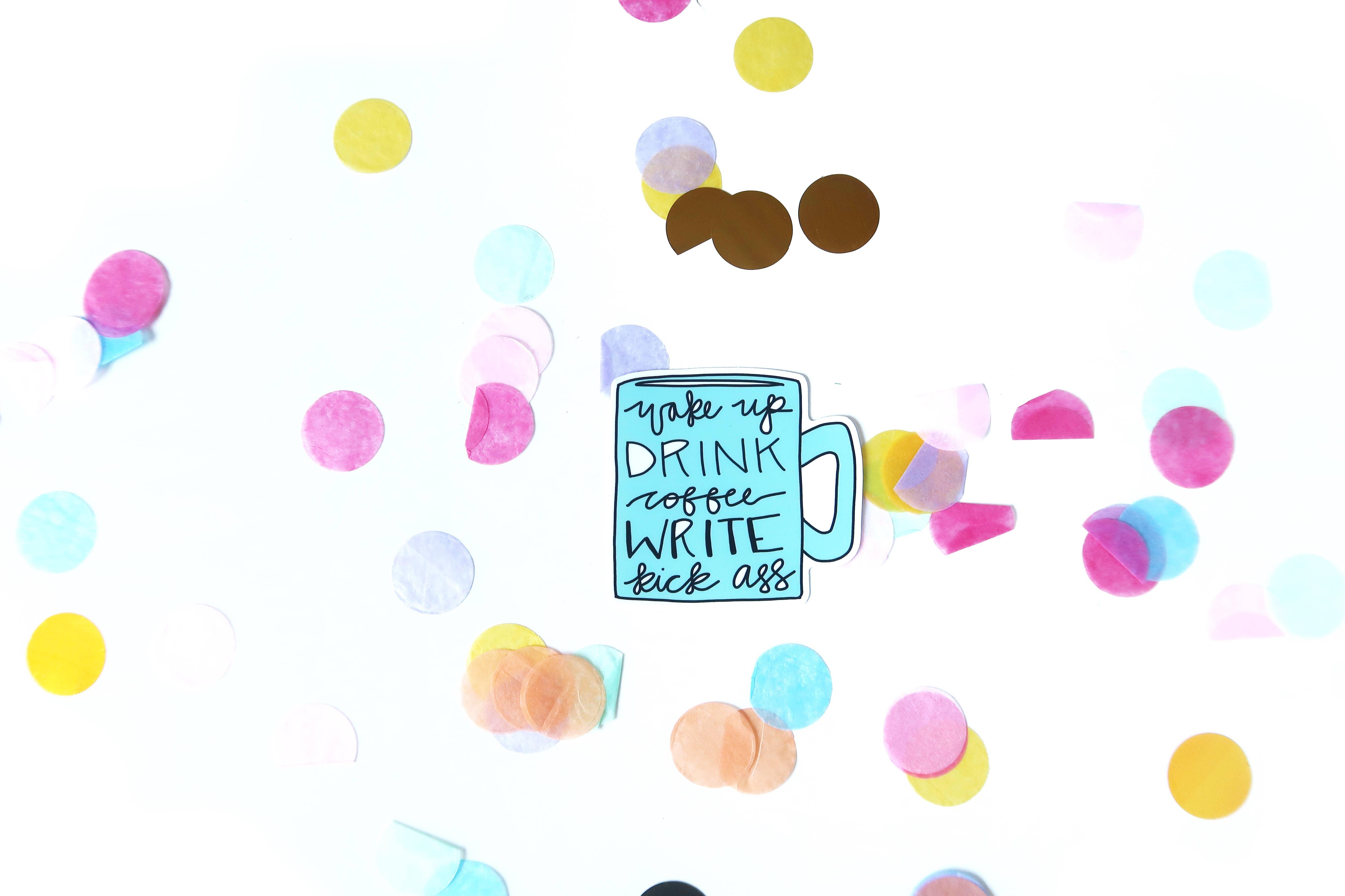 Kick Ass Writer Sticker | Trada Marketplace