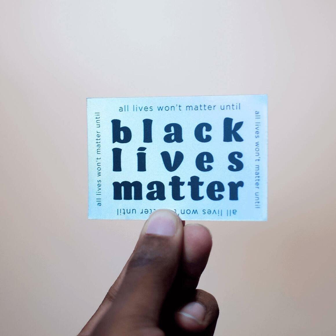 Black Lives Matter — Holographic Sticker | Trada Marketplace