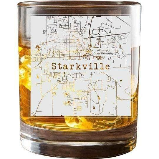 Starkville College Town Glasses (Set of 2)   Trada Marketplace