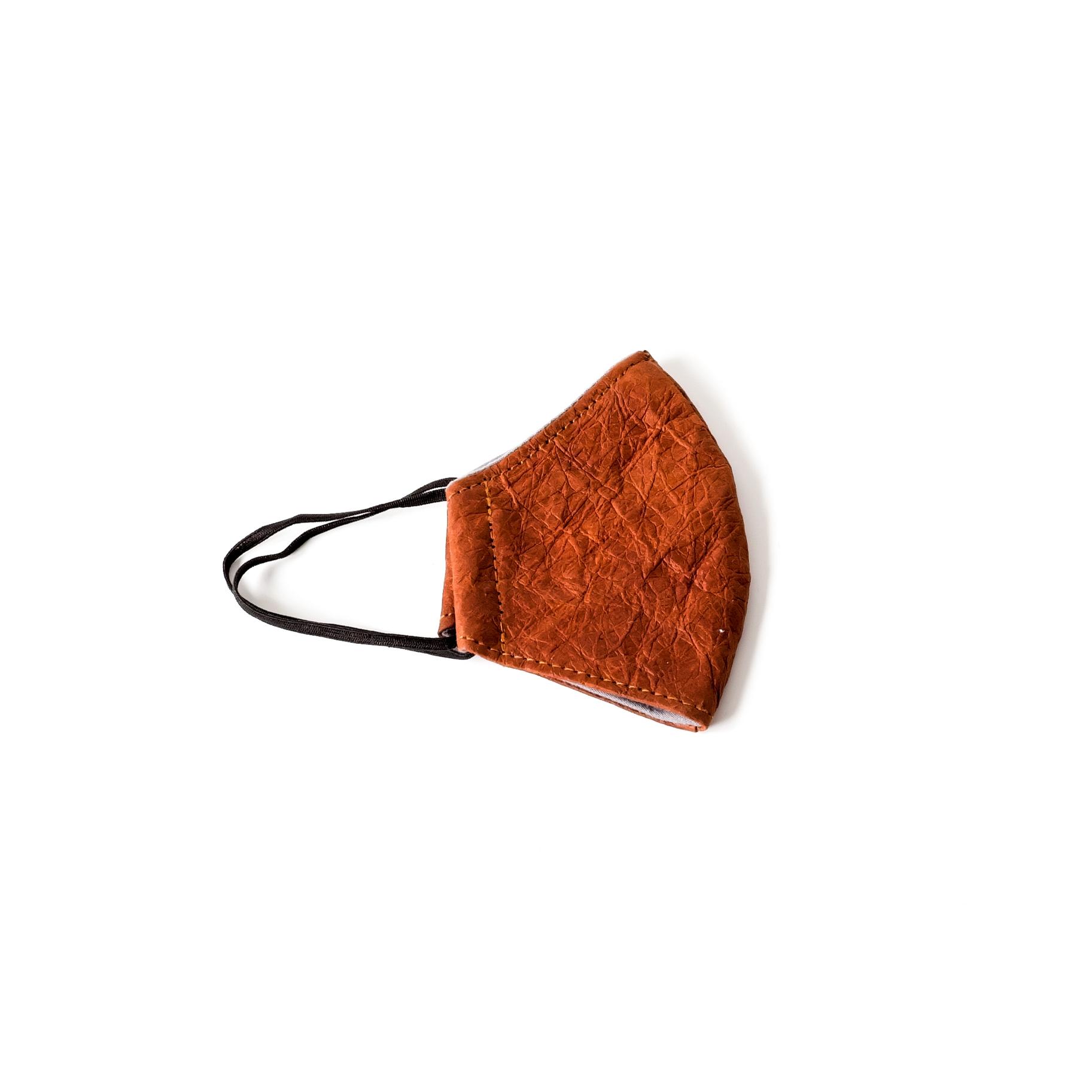 Face Mask - Paper Leather, Saddle | Trada Marketplace