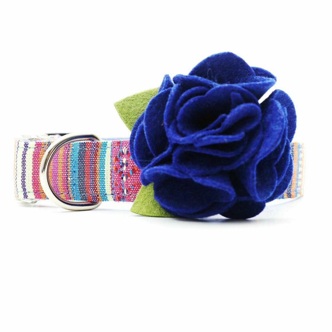 Dog Collar Hydrangea Flower - Moody Blues   Trada Marketplace