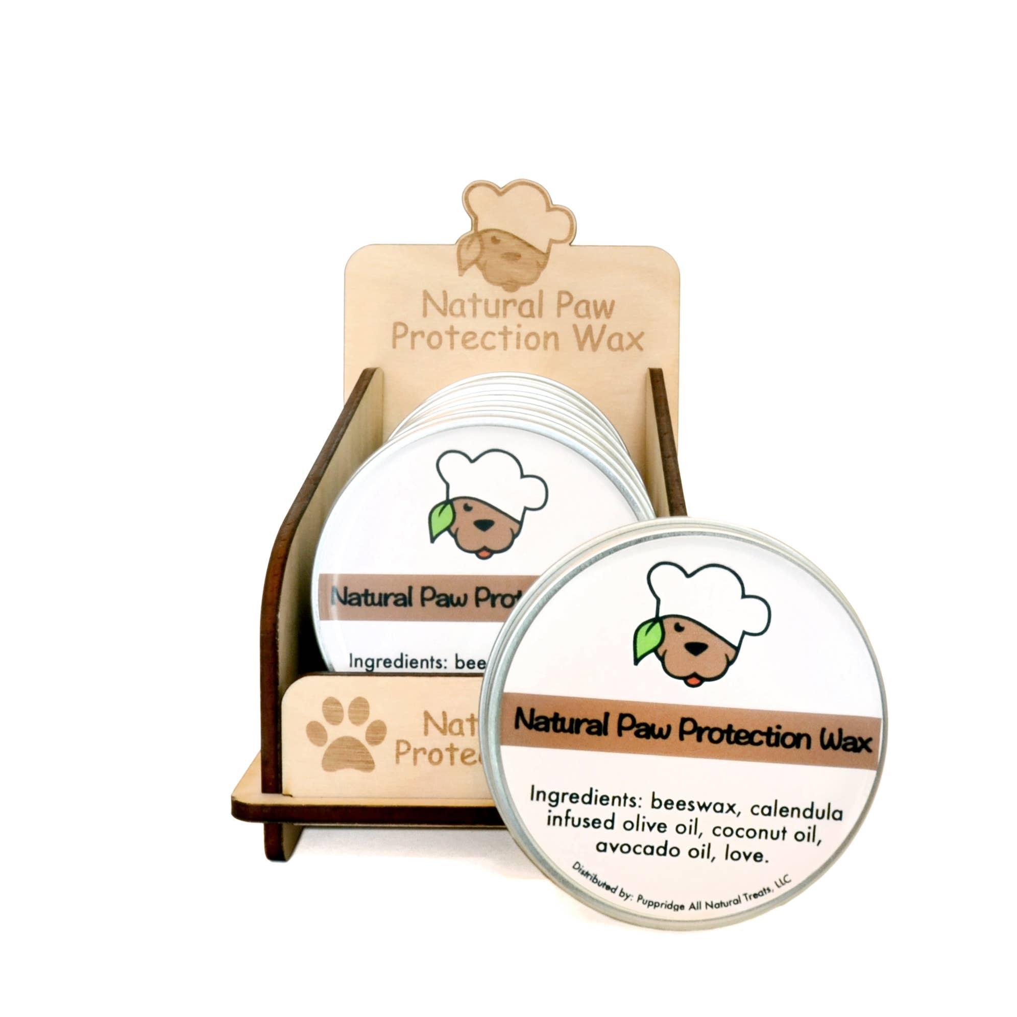 Engraved Wooden Paw Wax Tin DISPLAY | Trada Marketplace