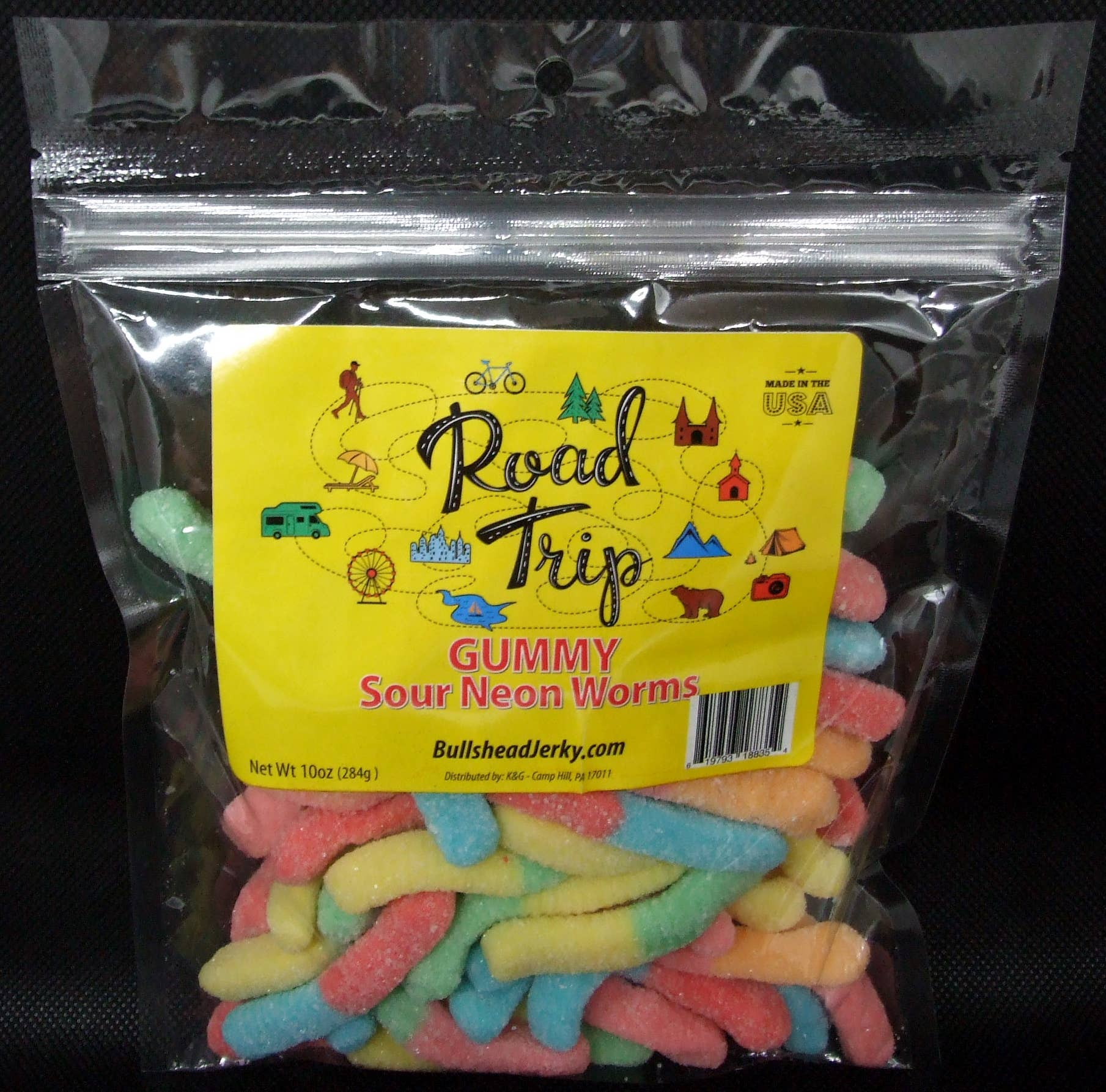 Gummy Sour Neon Worms 10 oz | Trada Marketplace