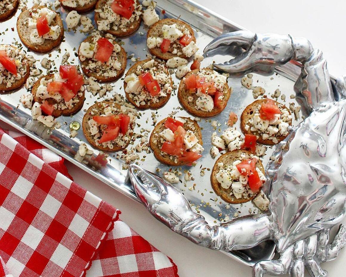 Crab Oblong Tray | Trada Marketplace