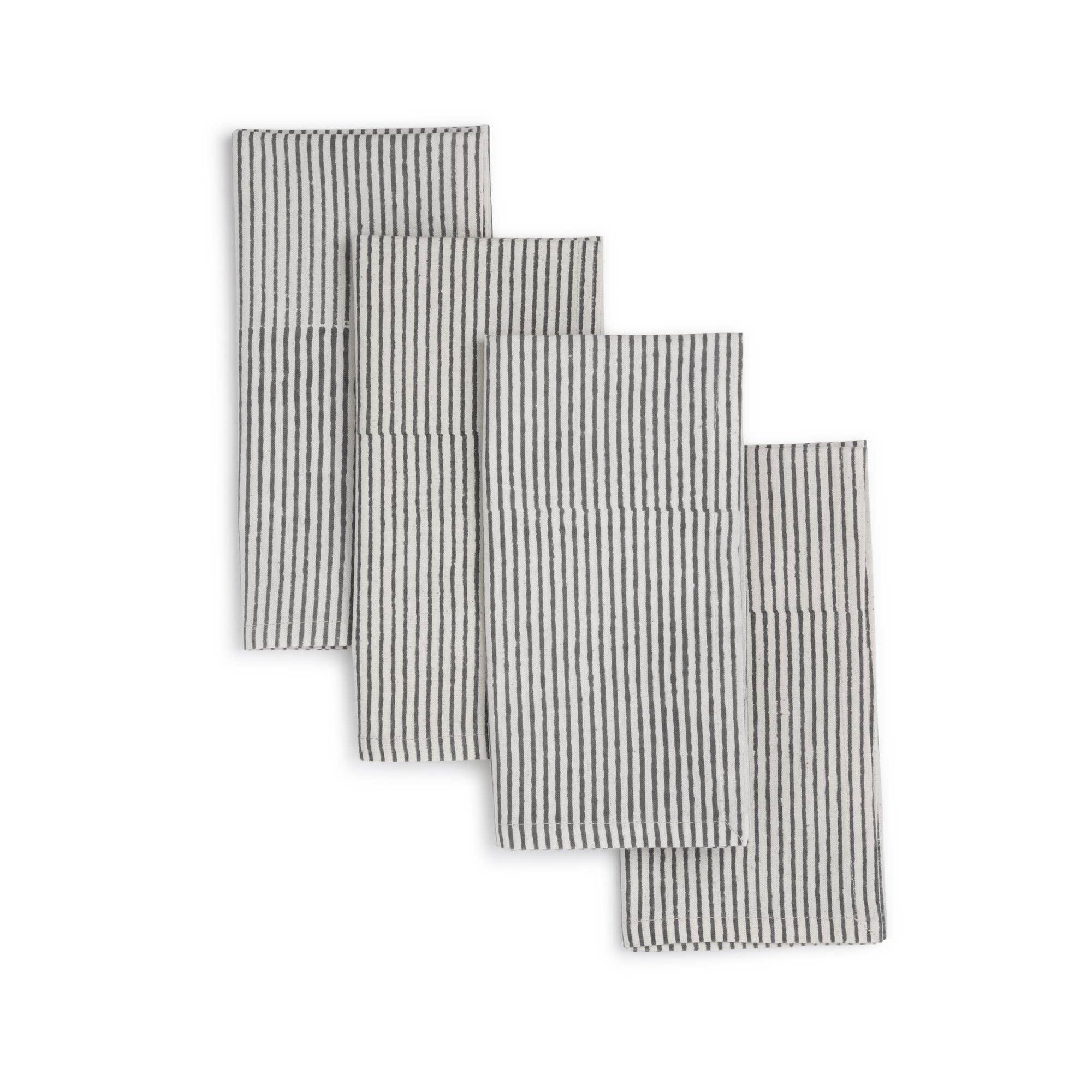 NIGHT SKY Napkin  (set of 4), Hand Block Printed Cotton | Trada Marketplace